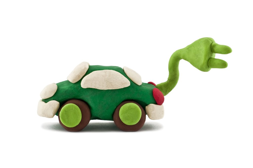 Model electric car made out of plasticine - Image from iStockPhoto Getty Images
